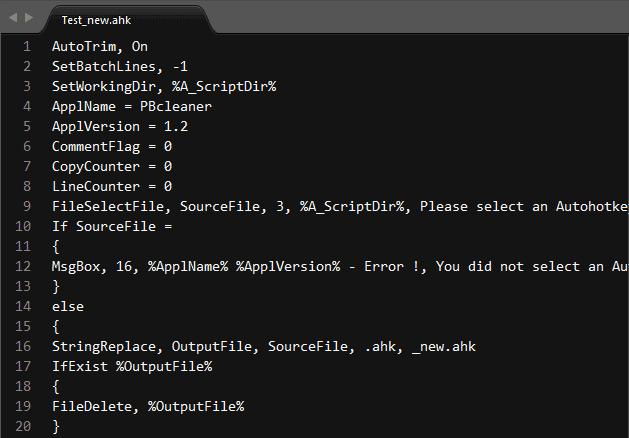 AHKcleaner - Cleaned source code