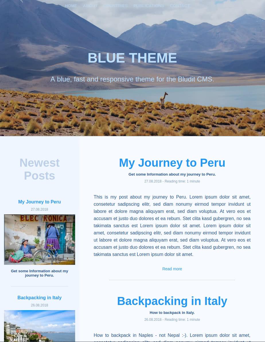 Blue - Home - Tablet