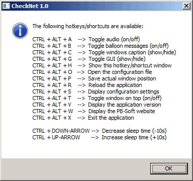 CheckNet - Show Hotkeys