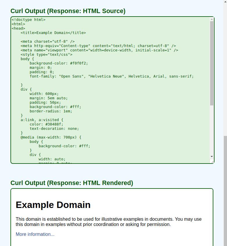 CurlCheck - Output 2