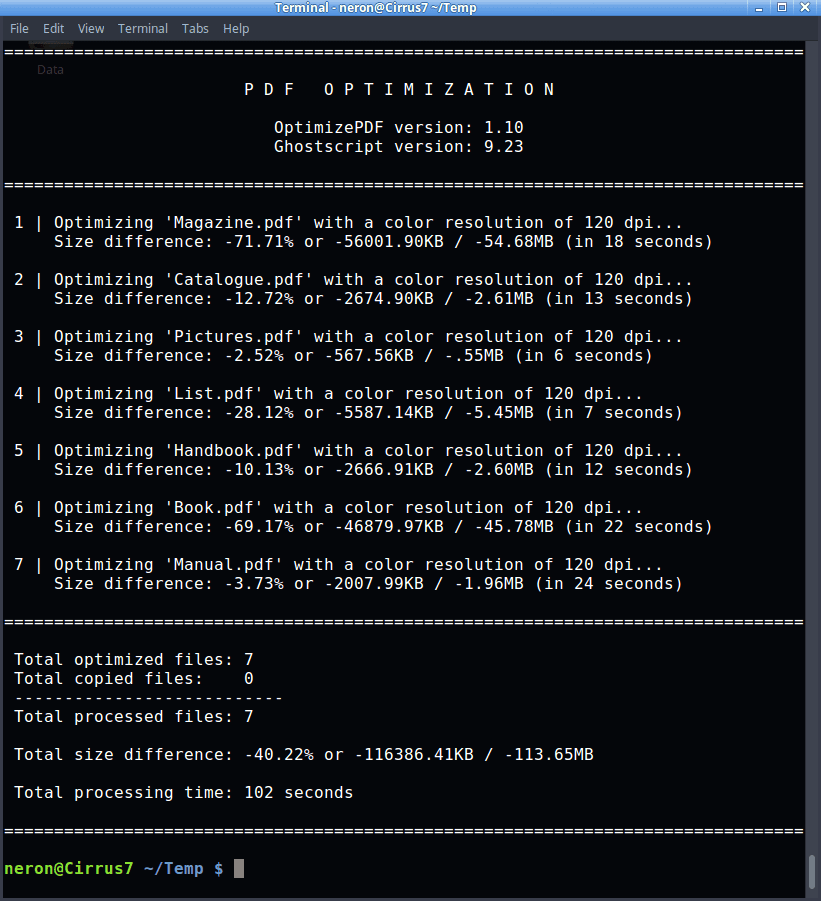 OptimizePDF - Optimization 1