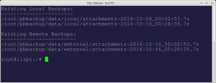 PBbackup - Directory backup