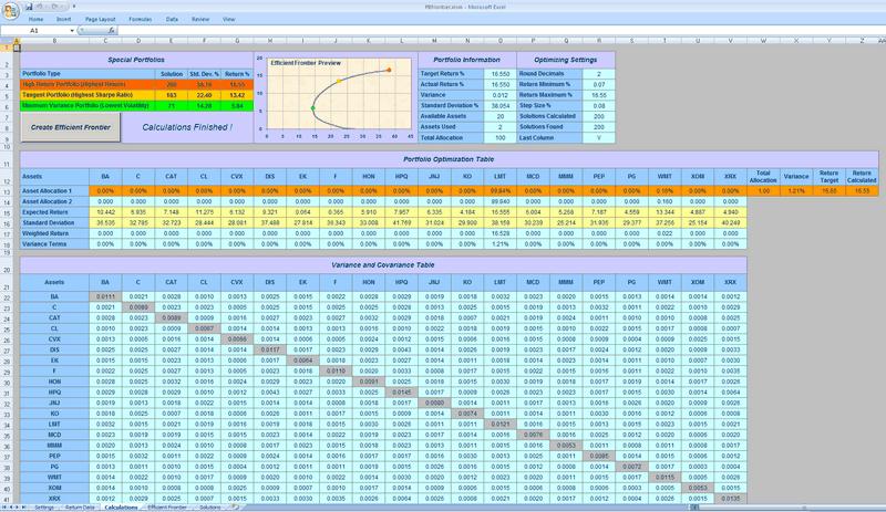 PBfrontier - Calculation