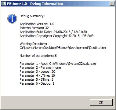 PBtimer - Debug output