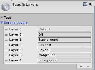 Sorting Layers