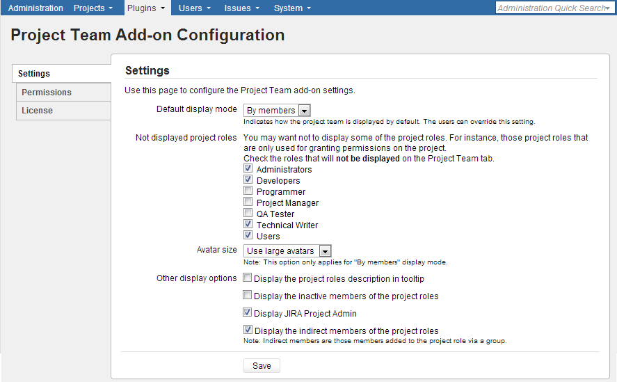 Configuring add-on settings