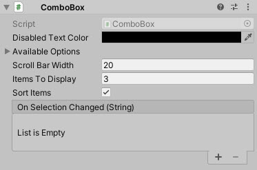UnityUIExtensions / Unity-UI-Extensions / wiki / Controls / ComboBox