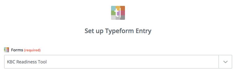Typeform form