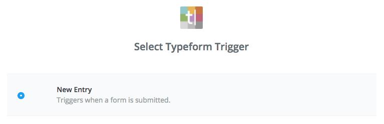 Typeform trigger