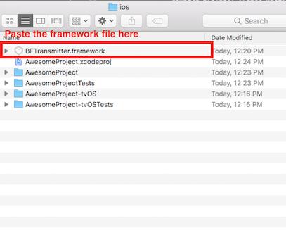 Paste framework file