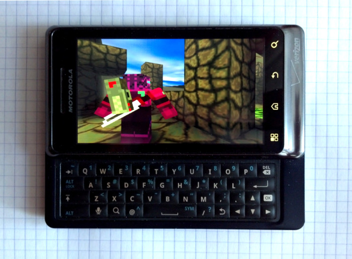 Adamant Armor Affection Adventure running on Motorola Droid 2