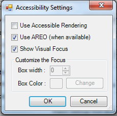 Accessiblity Settings Screen