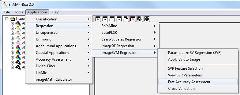 hu-geomatics / enmap-box-idl / wiki / imageSVM Regression - Manual