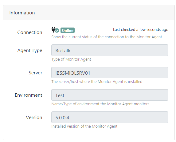 Monitoring Agent Configuration Information