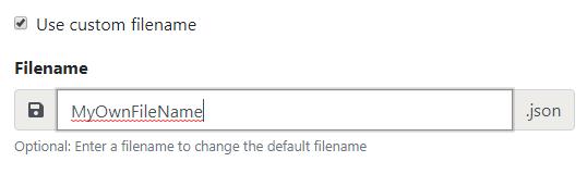 Custom file name option
