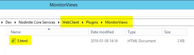 Dashboard on Monitor Views