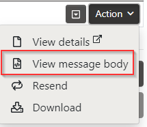 View Message Body