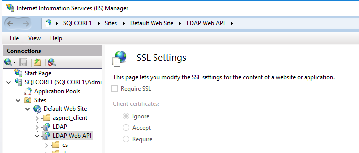 Default SSL