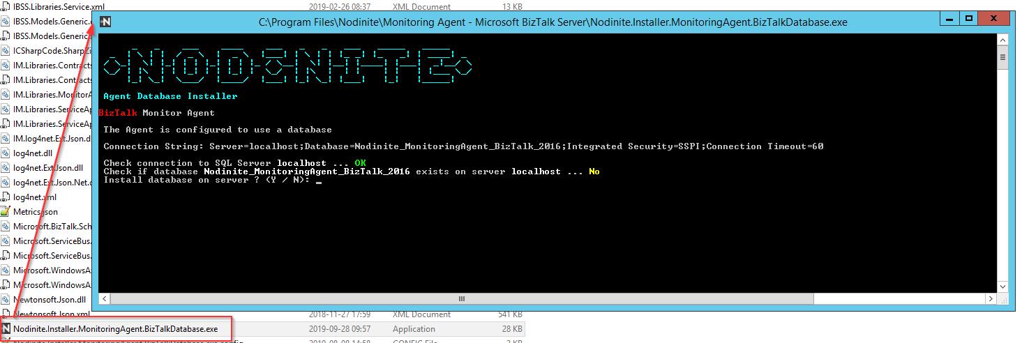 Agent database install