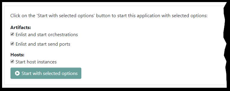 Advanced Start options