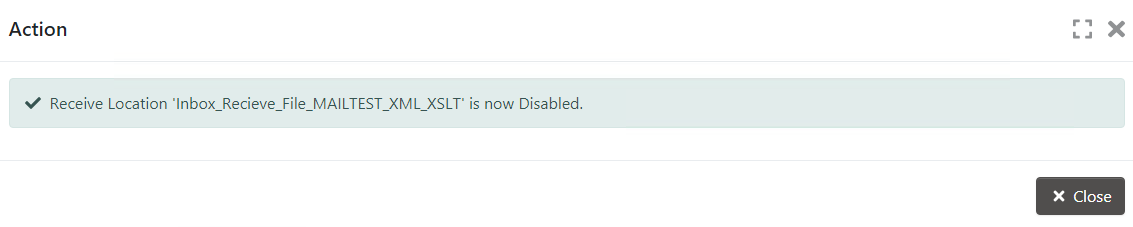 Disabled Action