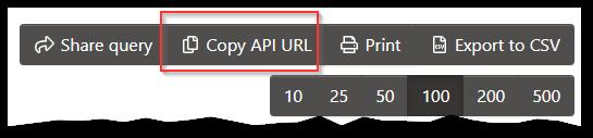 Copy API URL