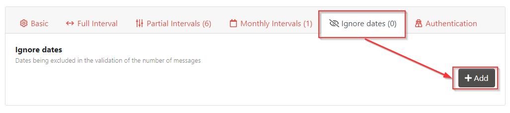 Add ignore date for non events interval