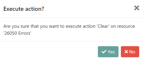 Clear intent modal