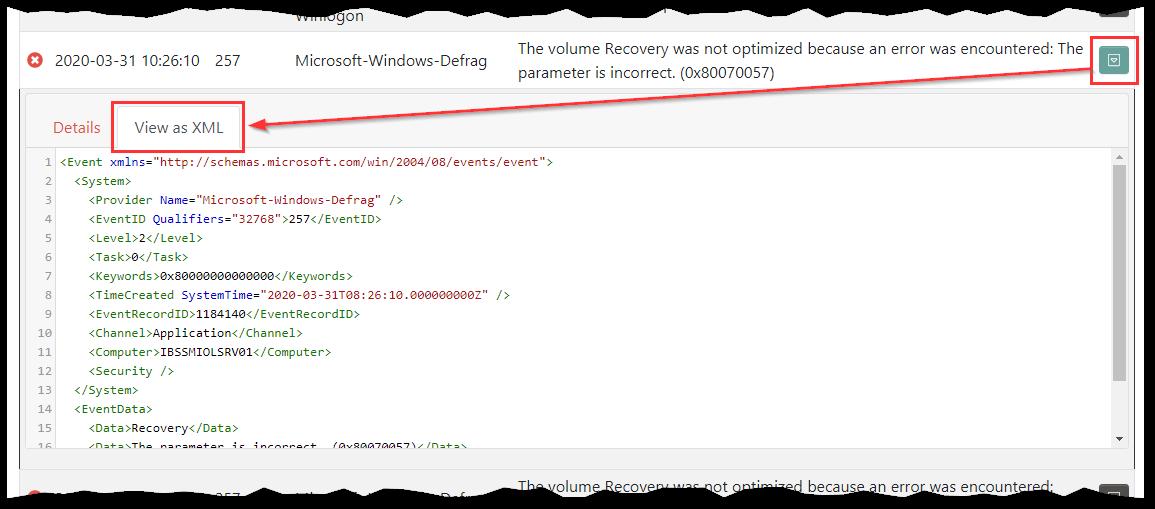 View as XML