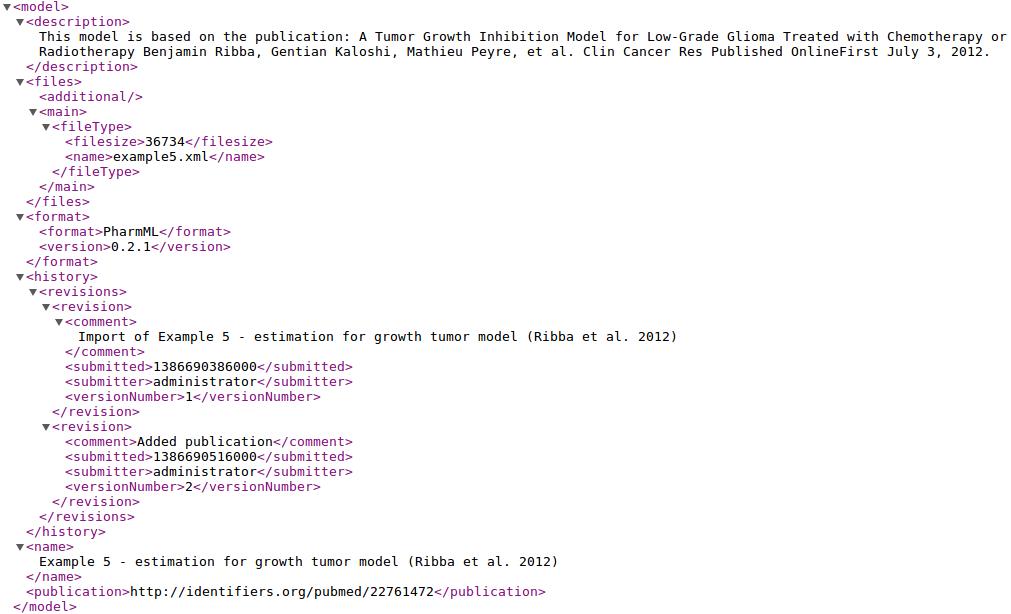 model web service result