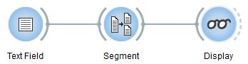 Scheme illustrating the usage of widget Segment