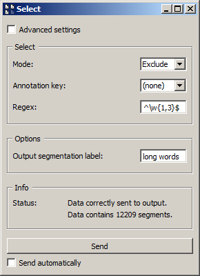 Example usage of widget Select