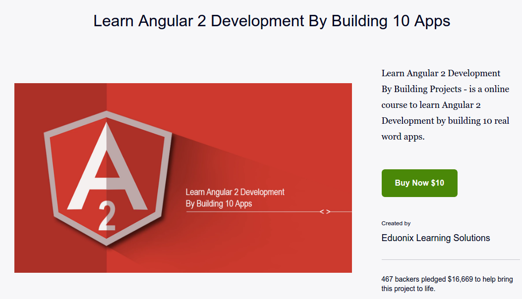 Learn Angular 2 Development By Building 12 Apps