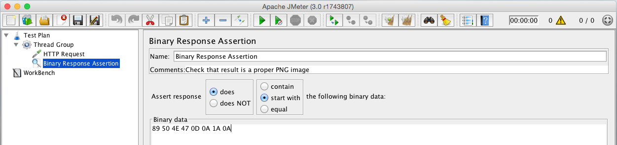Binary assertion