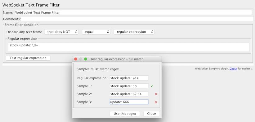 Text frame filter