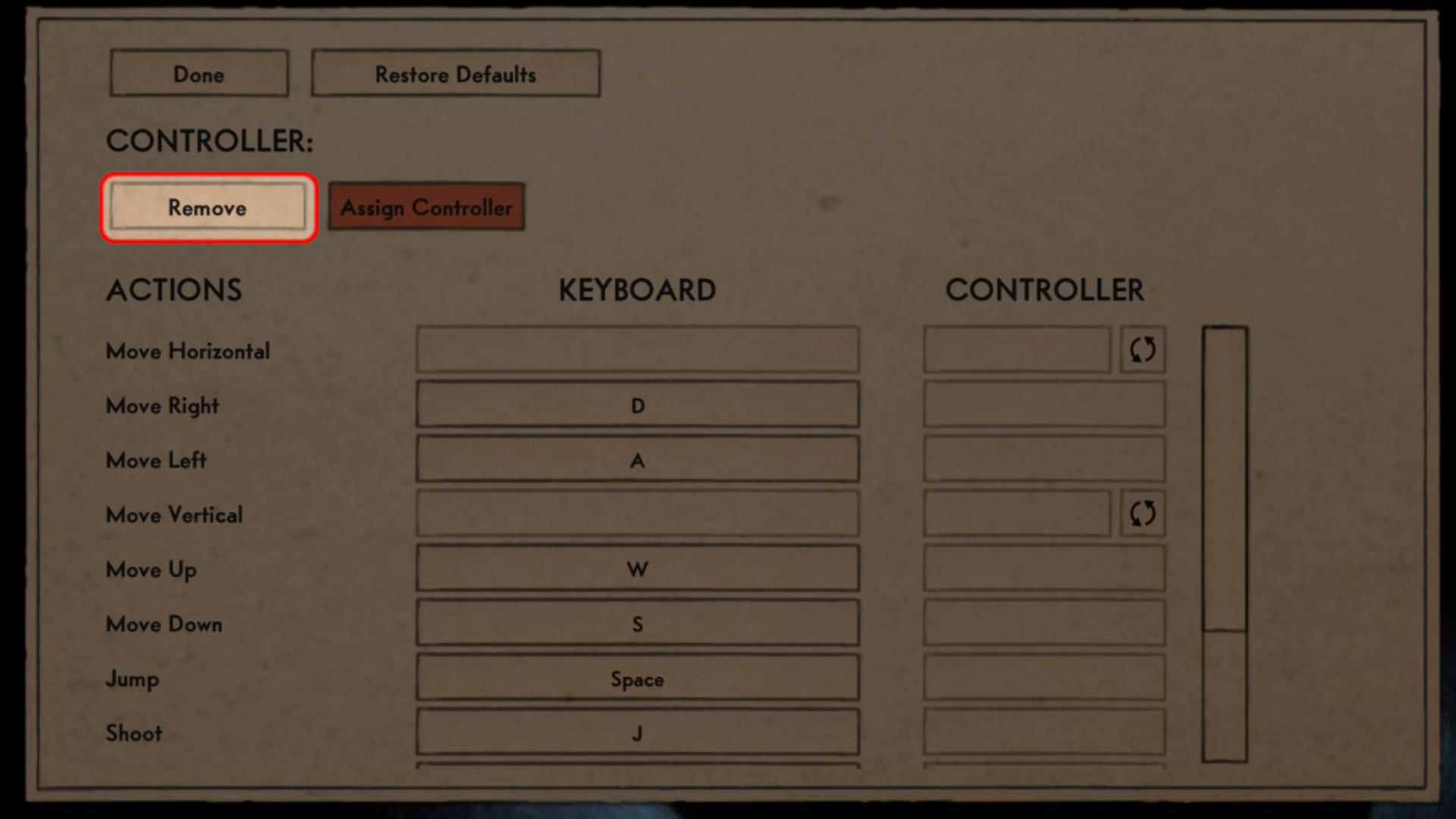 cuphead input settings