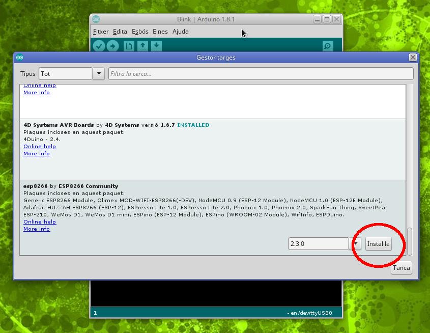 Instal·lació suport ESP8266