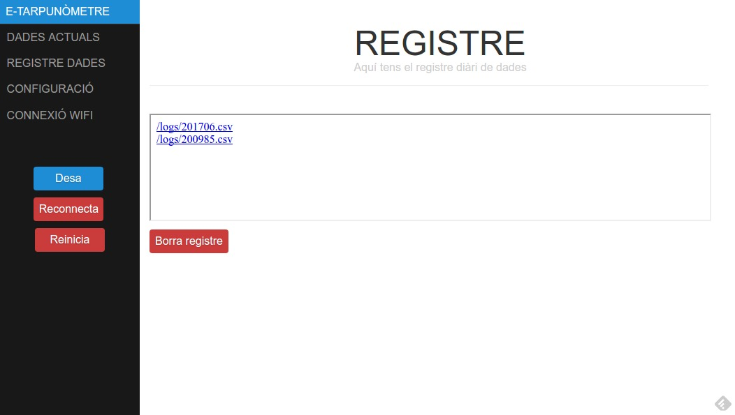 e-Tarpunòmetre - Registre