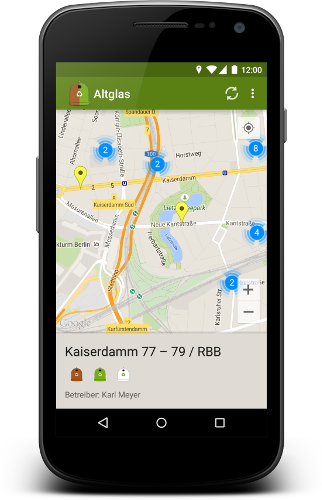 Altglas map view