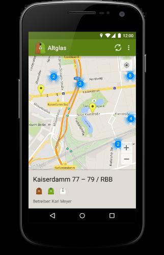 Altglas map view