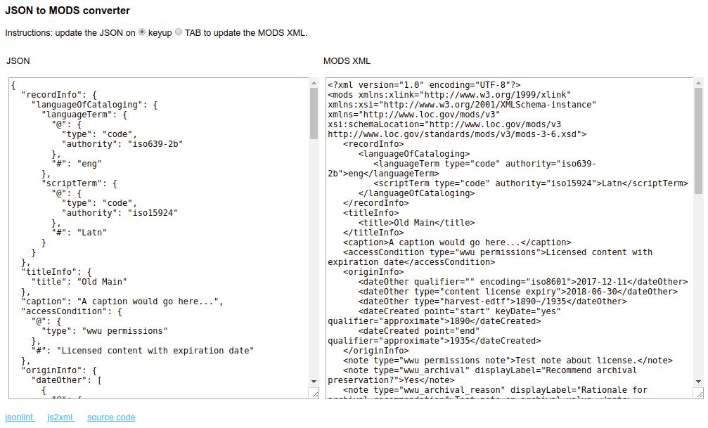 screenshot of this web application