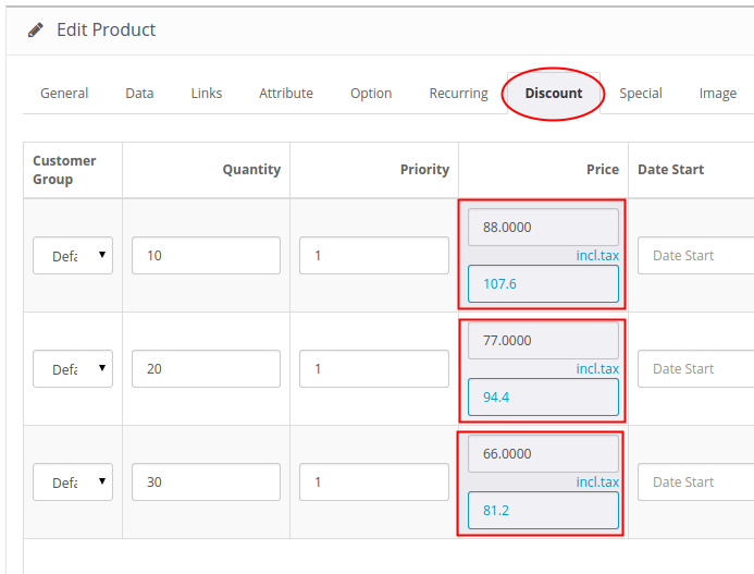 Price Input Helper 2 Product Discount price field with helper field